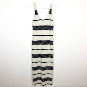 Alice & Olivia Sweater Dress Small Striped Stretch